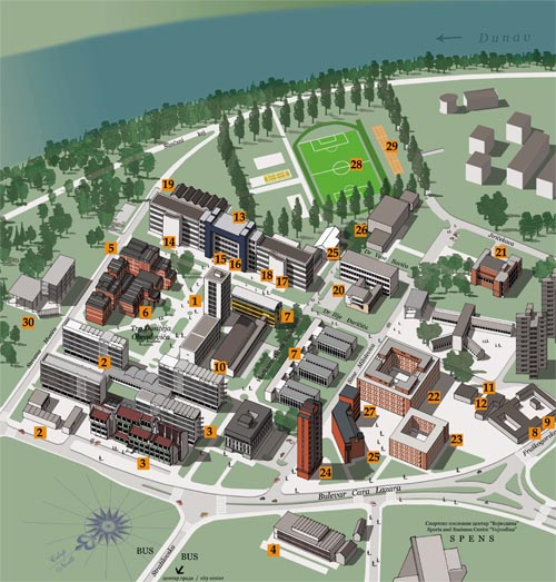 University Of Novi Sad Campus Map